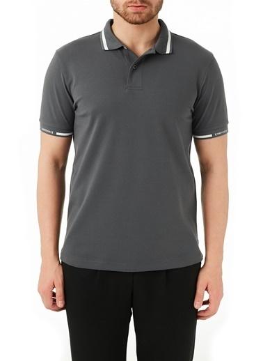 Emporio Armani  Pamuklu Düğmeli Polo T Shirt Erkek Polo 3K1Fa4 1Jptz 0628 Antrasit